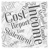 37 Parts of an Income Statement, part 1 word cloud concept  background. Text Royalty Free Stock Photos