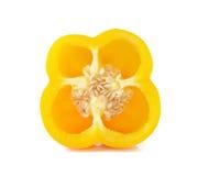 Parts jaunes de poivre Photographie stock libre de droits