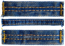 Parts of jeans pants Royalty Free Stock Images