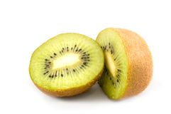 Parts of a kiwi isolated Royalty Free Stock Image