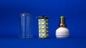 Parts of led light bulb Royalty Free Stock Image