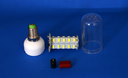 Parts of led light bulb Royalty Free Stock Photo