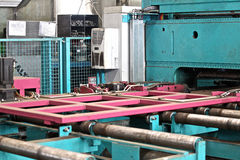 Parts of the machine cutting of sheet metal Stock Image