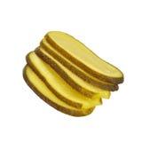 Parts marinées de concombre. images stock