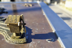 Parts of a miniature metal map of the city Nessebar, Bulgaria Royalty Free Stock Photos