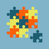 Parts of multicolor puzzles Royalty Free Stock Image