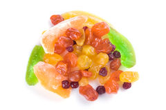 Parts multicolores des fruits secs Photo stock