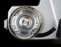Parts Of An Analog Camera Aperture Speed Dial Royalty Free Stock Image