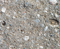 Parts of the old destroyed concrete floor Royalty Free Stock Photography