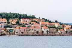Parts of the old town of Korcula on the island of Korcula Royalty Free Stock Photos