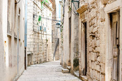 Parts of the old town of Korcula on the island of Korcula Royalty Free Stock Photo