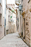Parts of the old town of Korcula on the island of Korcula Stock Image
