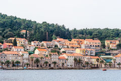 Parts of the old town of Korcula on the island of Korcula Stock Photos