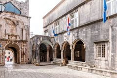 Parts of the old town of Korcula on the island of Korcula, Croatia Stock Image