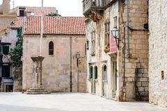 Parts of the old town of Korcula on the island of Korcula, Croatia Royalty Free Stock Image