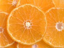 Parts oranges photographie stock libre de droits