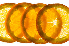 Parts oranges Images libres de droits