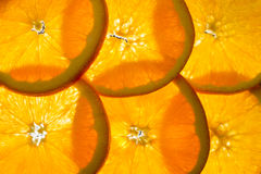 Parts oranges Photo libre de droits