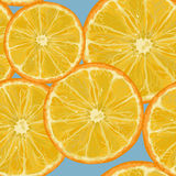 Parts oranges Images stock