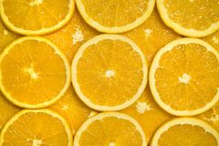 Parts oranges Photo libre de droits