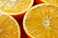 Parts oranges Photo stock