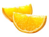 Parts oranges d'isolement sur le blanc image libre de droits