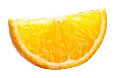 Parts oranges d'isolement sur le blanc photos libres de droits