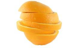 Parts oranges fraîches photos libres de droits