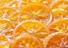 Parts oranges glacées Photo libre de droits