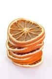 Parts oranges sèches photographie stock libre de droits