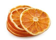 parts oranges sèches photo libre de droits