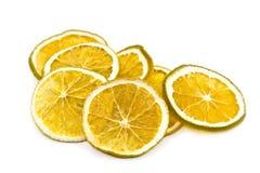 Parts oranges sèches photo stock