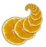 Parts oranges (spirale) photo libre de droits
