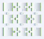 Parts of paper puzzles. Abstract paper clipping Stock Photography
