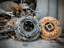 Parts pile of old cars Stock Photo