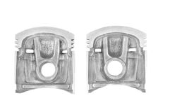 Parts of the piston. Parts of the cut piston engine of a car Stock Photo