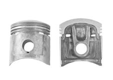 Parts of piston isolated Stock Photography