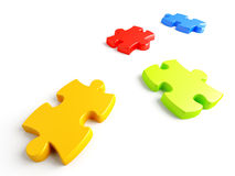Parts of a puzzle Stock Image