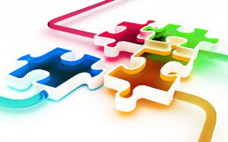 Parts of puzzle stock photography