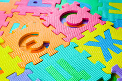 Parts of Puzzle are scattered on the floor Stock Images