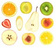 parts réglées de fruit photo libre de droits