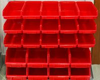 Parts rack red Royalty Free Stock Image