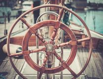 Parts of retro regatta Stock Photo