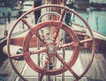Parts of retro regatta Stock Photo