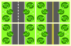 Parts of the road seamless vector illustration