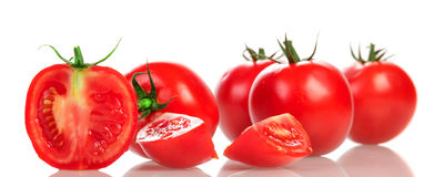 Parts rouges de tomate Photographie stock libre de droits