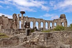 Ruins of the roman city Volubilis in Morocco Stock Photography