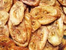 Parts sèches de banane enduites du sucre photo libre de droits