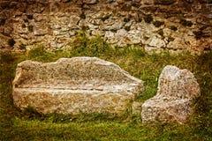 Parts of Sarmizegetusa Dacian ruins, Romania Stock Photos