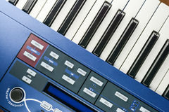 Parts of synth keyboards Stock Photos